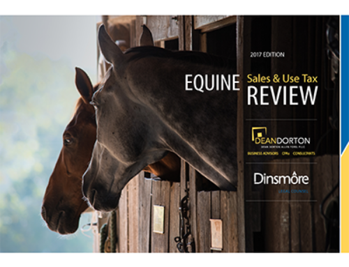 2017 Equine Sales & Use Tax Guide