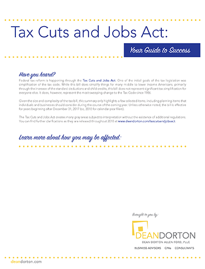 Tax Cuts and Jobs Act: Your Guide to Success